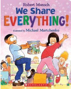 kafy's books: We Share Everything! Book Review and a Free Extending the Reading Experience Idea.