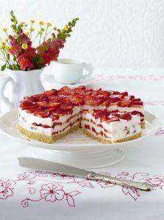 Unser beliebtes Rezept für Erdbeer-Philadelphia-Torte und mehr als 55.000 weitere kostenlose Rezepte auf LECKER.de.