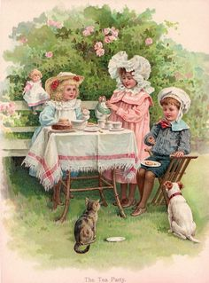 Children's Victorian Tea Party__Here is something sweet for my Victorian tea party challenge!