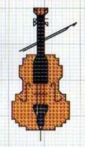 Violino, viola, violoncello, contrabbasso - punto croce - cross Stitch - Kreuzstich - Punto de Cruz