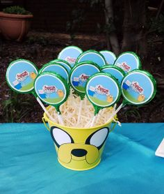 Adventure Time Chocolate Lollies in Jake Bucket