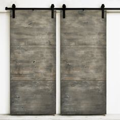 Shop Dogberry Collections d-slab-3682 Modern Slab Double Barn Doors at ATG Stores. Browse our sliding closet door track & track kits, all with free shipping and best price guaranteed.