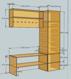 Instant Access To Woodworking Designs, DIY Patterns & Crafts Easy Wood Projects, Cool Woodworking Projects, Woodworking Furniture, Furniture Plans, Furniture Making, Diy Furniture, Furniture Cleaning, Kitchen Furniture, Sketchup Woodworking