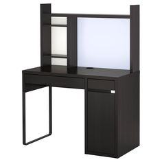 MICKE Workstation - black-brown - IKEA