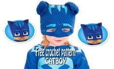 Catboy Mask- Free Crochet Pattern. A free crochet pattern to create a catboy mask. Free catboy crochet mask. Tutorial to make a free crochet catboy mask