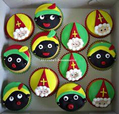 Piet en sint cupcakes