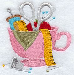 Machine Embroidery Designs at Embroidery Library! - Cup o' Crafty