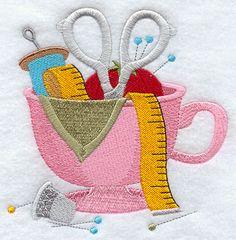 Cup o' Crafty design (E9430) from www.Emblibrary.com