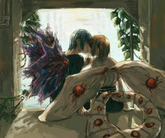 Tokyo Ghoul ayato x hinami>>>their child would be so amazing and powerful..