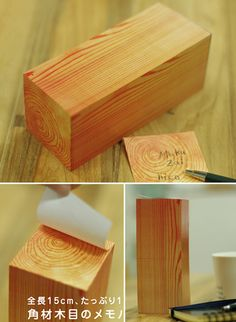 """wood block"" post its"