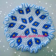 Baklava dilimini yuvarlak life uyarladım inşallah beğenirsiniz arkadaşlar ❤ ❤ ❤ #crochet #knitting #kesfetteyiz #keşfet #tasarımlif #mavi… Crochet Potholders, Crochet Tablecloth, Doilies, Winter Wonderland, Diy And Crafts, Stitch, Blanket, Instagram, Herbs