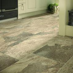 Wickes Emulated Stone Tierra Floor Tile 405 x Kitchen Tiles, Kitchen Flooring, New Kitchen, Karndean Flooring, Granite Flooring, Tiles Uk, Lavender Cottage, Glazed Tiles, Wall And Floor Tiles