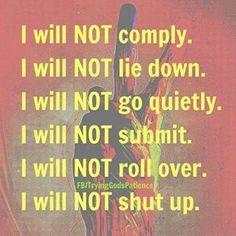 Because ... I am aware ...