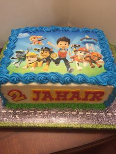 paw patrol cake More (Paw Patrol Cake Rectangle) Paw Patrol Birthday Cake, 4th Birthday Cakes, Paw Patrol Party, Third Birthday, 4th Birthday Parties, Boy Birthday, Birthday Ideas, Bolo Do Paw Patrol, Torta Paw Patrol