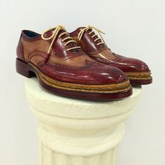 Paul Parkman Triple Leather Sole Handcrafted Goodyear Welted Wingtip Brogues #paulparkman #luxury #mensshoes #handcrafted #wingtip #oxfords #mensfashion #menswear Website : www.paulparkman.com