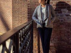 Grey asymmetrical cardigan | grey graphic tee | piped drapey pants | nude patent pumps | www.shoppingmycloset.com           @northface #northface @oldnavy #oldnavy @anntaylor #anntaylor @colehaan #colehaan @macys #macys