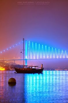 The Bosphorus Bridge, also called the First Bosphorus Bridge or simply the First Bridge is one of two suspension bridges spanning the Bo...