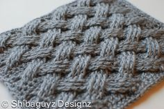 New to me design for crochet. Thought it was knit! Can't wait to try. Free pattern. DIAGONAL BASKET WEAVE!!!!