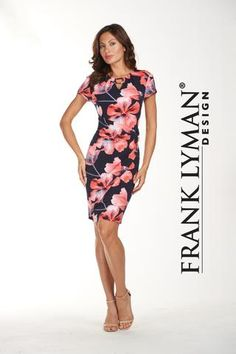 Lovely day/career style knit dress with flattering side cinch. Proudly Made in Canada