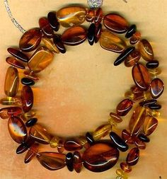 "Baltic Amber Beads 18mm Ovals Yellow Cognac Black 16"" Strd Genuine Natural 