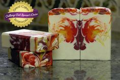 Butterfly Flambe soap by Claudia Carpenter