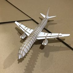 10$ Airplane 3D Puzzle with Assembly guide by Unnote Cardboard 3d Puzzles, Airplane, Connection, Plane, Airplanes, Aircraft, Planes
