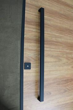 Matte Black Entry Pull Set – long Matte Black Entry Pull Set – long is a complete set of door hardware (hinges not icluded) for contemporary entry doors such as pivot doors. Closet Door Handles, Front Door Handles, Black Door Handles, Closet Doors, Bedroom Door Handles, Entry Door Hardware, Exterior Door Handles, Exterior Doors, Door Knobs
