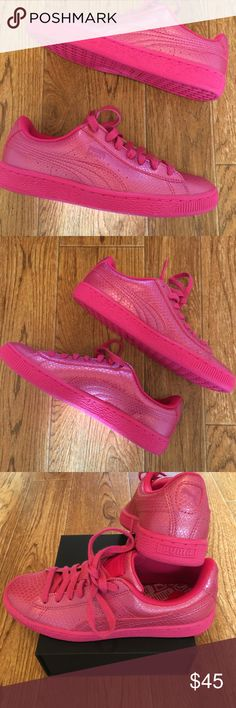 [PUMA] Pink Women's Puma Basket Size 6  New with no tags Pink Puma Basket Size 6. Pumas' are a great sneaker!  Puma Shoes Sneakers