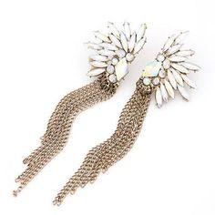Gold & Opal Earrings