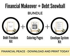 This is the kit I wish I had went getting my finances organized. Debt Freedom is a great goal and it is POSSIBLE, you can do it. If you've tried the apps, the spreadsheets, etc. and nothing seems to stick, this printable bundle is a great option. There is something special about putting pen to paper. This bundle is a great complement to Dave Ramsey's Financial Peace University and his Total Money Makeover book