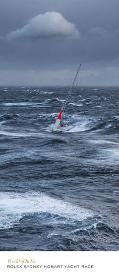 2013 Rolex Sydney Hobart Yacht Race. This is what heavy weather sailing looks…