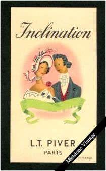 Antique French Soap Perfume Card: Vintage Inclination, L. T. Piver, Paris France