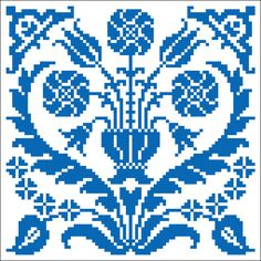 Persian tile | Chart for cross stitch or filet crochet.