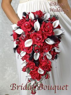 Gorgeous HEATHER CASCADE Red Complete Bridal by Angelweddings, $449.00