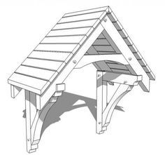 The pergola kits are the easiest and quickest way to build a garden pergola. There are lots of do it yourself pergola kits available to you so that anyone could easily put them together to construct a new structure at their backyard. Backyard Canopy, Canopy Outdoor, Diy Tent, Roof Brackets, Wooden Brackets, Door Overhang, Porch Roof, Porch Tent, Front Porch