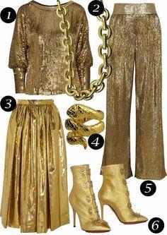 Brilhos da Moda: Ouro e Prata