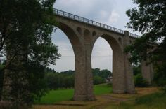 "Ederseebahn-Radweg hier radelt man auf dem ""Selbacher Viadukt"""