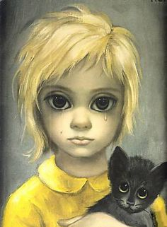 Amy Adams is starring in a movie directed by Tim Burton about a woman whose husband tricked the world into believing he was the one behind her artwork. Big Eyes Margaret Keane, Keane Big Eyes, Tim Burton, Margareth Keane, Big Eyes Paintings, Deep Paintings, Watercolor Paintings, Big Eyes Artist, Most Famous Artists