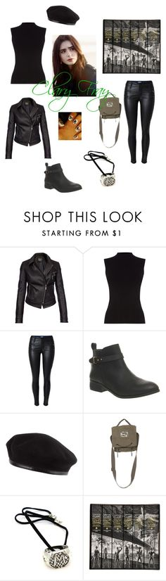 """""""The Mortal Instruments-Clary Fray"""" by thanaja-rose ❤ liked on Polyvore featuring Barbour International, Oasis and Office"""