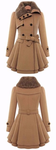 A Line Skirted Coat with Belt