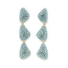 micro pave drop earrings - Google Search