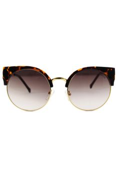 Dark Amber Kitten Cat Eye Sunglasses