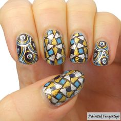 Mosaic Stamping Decals | Painted Fingertips
