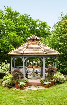 Superieur Let Lighting, Landscaping, And Lounge Friendly Furniture Turn A Backyard  Into An Enchanting. Gazebo IdeasBackyard GazeboGazebo PlansBackyard ...