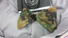 Digital jungle camouflage hair bow military hunting by LouLeeAndMe