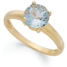 Victoria Townsend 18k Gold over Sterling Silver Ring, Aqua Topaz March... ($27) ❤ liked on Polyvore featuring jewelry, rings, no color, gold jewelry, gold birthstone rings, sterling silver topaz ring, 18 karat gold ring and 18k gold jewelry