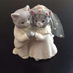Kitty Cucumber Wedding Figurine by VintageModandFlorals on Etsy
