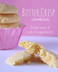 Butter Crisp Cookies Recipe
