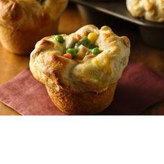 Grands!® Chicken Pot Pie Puffs @keyingredient #soup #chicken #vegetables #pie