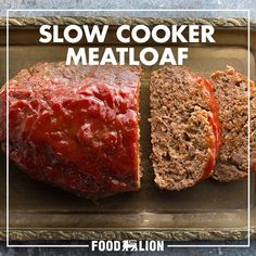 Toss all of your ingredients for a classic meatloaf together in a slow cooker and enjoy a savory meal with hints of cheddar cheese, Worcestershire sauce and a blend of spices atop. Crock Pot Food, Crock Pot Slow Cooker, Slow Cooker Recipes, Beef Recipes, Cooking Recipes, Healthy Recipes, Crockpot Meat, Crockpot Potluck, Ground Beef Crockpot Recipes